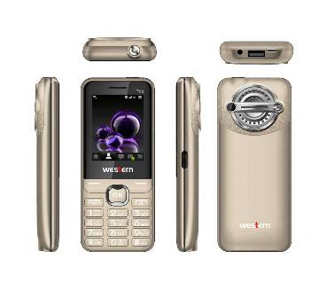 "Western D-4 - Feature Phone - 2.4"" - 32MB RAM - 32 MB ROM - Gold"