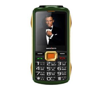 "Western D-36 - Feature Phone - 2.4"" - 32MB RAM - 32 MB ROM - Black and Green"