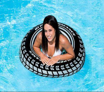 "Intex Monster Truck Tube 45"" এডাল্ট ইনফ্লেটেবল টায়ার সুমিং রিং Large Inflatable Blow Up Swim Tube Pool Water Float with handle"