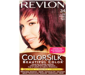 Revlon Color Silk 34 Deep Burgundy Hair Color USA