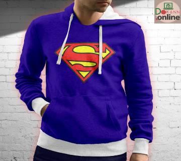 Superman Menz Full Sleeve Hoodie