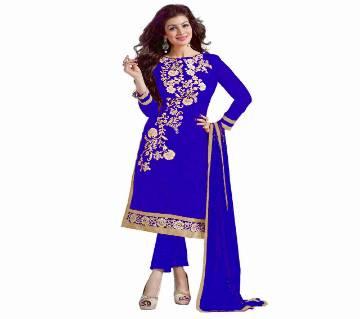 Un-stitched rajdhani voyel cotton block print salwar kameez st block-372