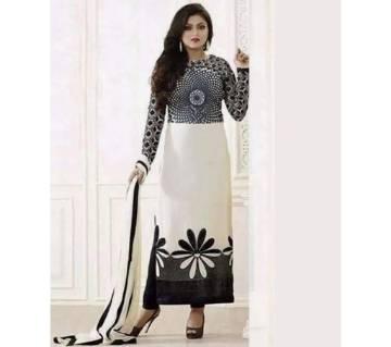 Unstitched block printed Rajdhani voyel cotton Salwar Kameez St block-301