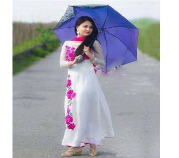 Unstitched block printed Rajdhani voyel cotton Salwar Kameez St block-314