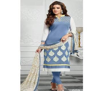 Unstitched block printed Rajdhani voyel cotton Salwar Kameez St block-334