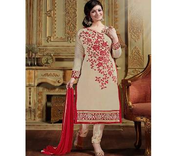 Unstitched block printed Rajdhani voyel cotton Salwar Kameez St block-335