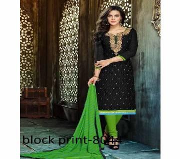 Unstitched block printed Rajdhani voyel cotton Salwar Kameez St block-8044 Copy