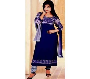 Unstitched block printed Rajdhani voyel cotton Salwar Kameez for woman stblock-102