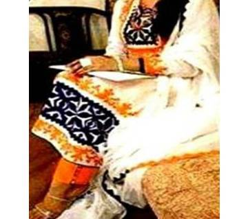 Unstitched block printed Rajdhani voyel cotton Salwar Kameez stblock-126