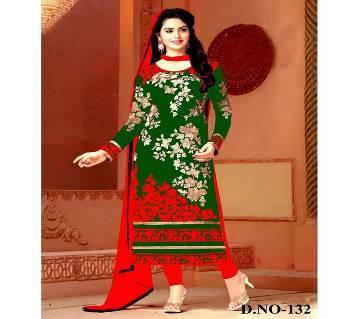 Unstitched block printed Rajdhani voyel cotton Salwar Kameez stblock-132