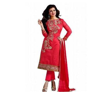 Unstitched block printed Rajdhani voyel cotton Salwar Kameez stblock-255