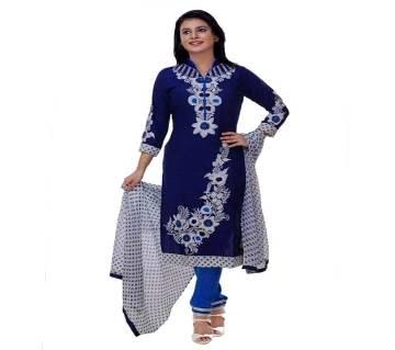 Unstitched block printed Rajdhani voyel cotton Salwar Kameez stblock-270