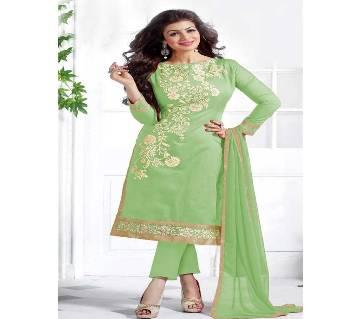 Unstitched block printed Rajdhani voyel cotton Salwar Kameez stblock-271