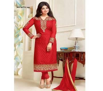 Unstitched block printed Rajdhani voyel cotton Salwar Kameez stblock-289