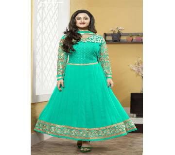 Unstitched block printed Rajdhani voyel cotton Salwar Kameez stblock-302