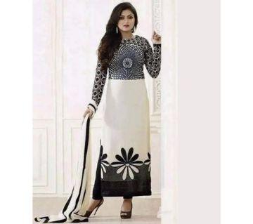 Unstitched block printed Rajdhani voyel cotton Salwar Kameez seblock-301