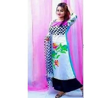 Unstitched block printed Rajdhani voyel cotton Salwar Kameez stblock-309