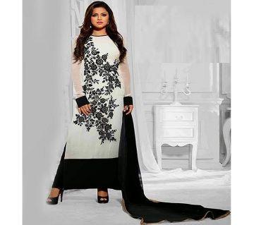 Unstitched block printed Rajdhani voyel cotton Salwar Kameez stblock-313