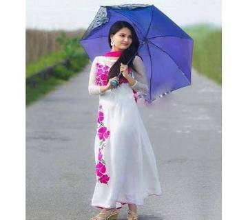 Unstitched block printed Rajdhani voyel cotton Salwar Kameez stblock-314