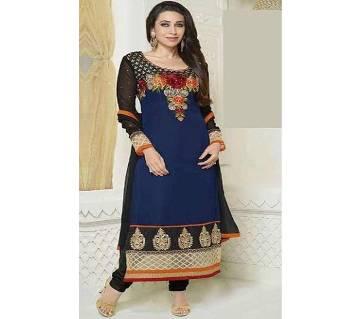 Unstitched block printed Rajdhani voyel cotton Salwar Kameez stblock-321