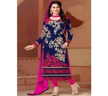 Unstitched block printed Rajdhani voyel cotton Salwar Kameez stblock-328