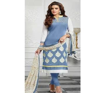 Unstitched block printed Rajdhani voyel cotton Salwar Kameez stblock-334