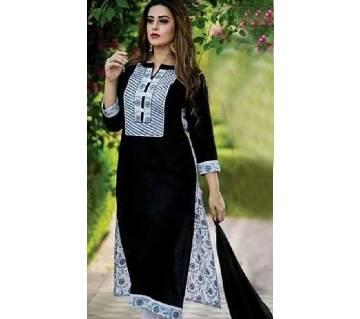 Unstitched block printed Rajdhani voyel cotton Salwar Kameez stblock-339