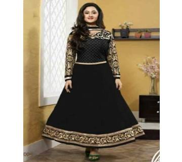 Unstitched block printed Rajdhani voyel cotton Salwar Kameez stblock-355