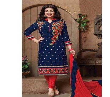 Unstitched block printed Rajdhani voyel cotton Salwar Kameez stblock-364