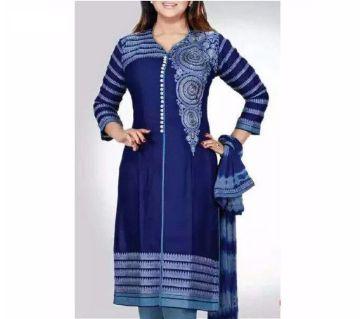 Unstitched block printed Rajdhani voyel cotton Salwar Kameez stblock-369