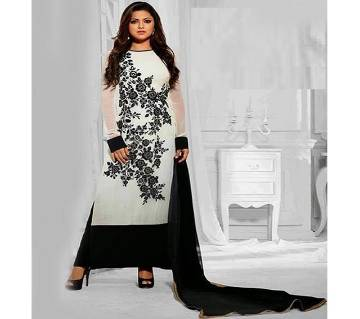 unstitched block printed cotton salwar kameez st block-313