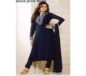 unstitched block printed cotton salwar kameez st block-8046