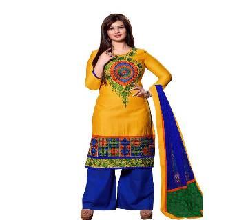 Unstitched block printed Rajdhani voyel cotton Salwar Kameez St block-436