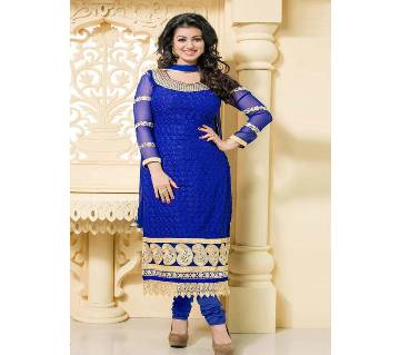 Unstitched block printed Rajdhani voyel cotton Salwar Kameez St block-421