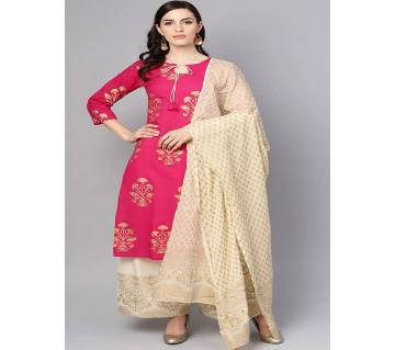 Unstitched Cotton Salwar Kamiz Suit