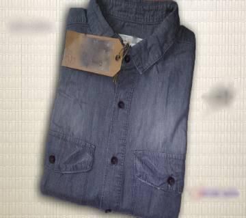 Menz Full Sleeve Casual Denim Shirt