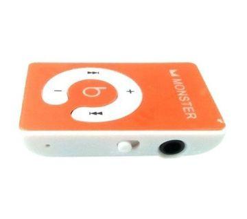 মিনি MP3 প্লেয়ার Monster ডিজাইন - অরেঞ্জ