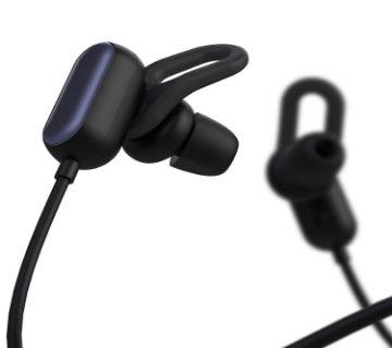 MI Wireless Bluetooth 4.1 Music Sport Earbuds Youth Edition Anti-Shedding Design IPX4 Waterproof - Black Bangladesh - 8986612