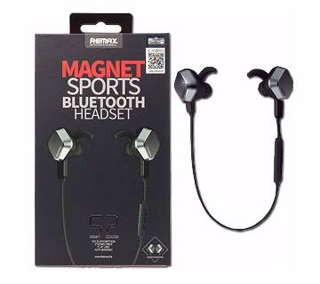 Remax RM-S2 Sports Magnet Wireless Bluetooth Earphone - Black