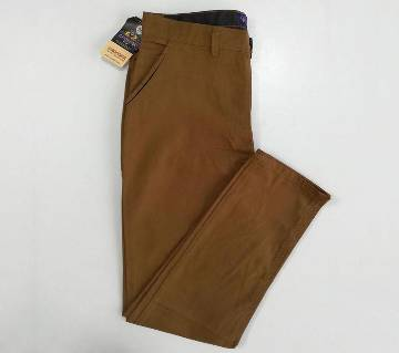 CROSSBE Wood Brown NON-Stretch Chinos- CAP