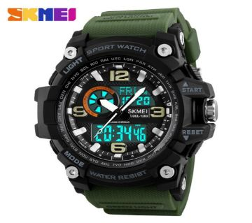 Analog Digital Skmei Watch Green Belt For Men