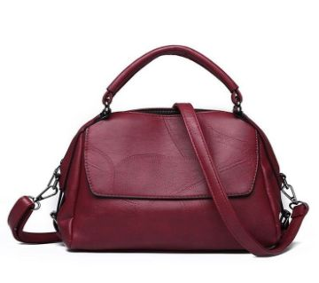 Stylish High Quality Leather Women Hand Bag Maroon