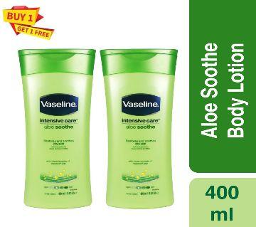 Vaseline Aloe Soothe Body Lotion moisturizes (Buy1, Get1)-400ml-India