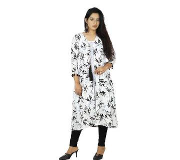 Multi Color Cotton Printed Stitched Kurti for Women