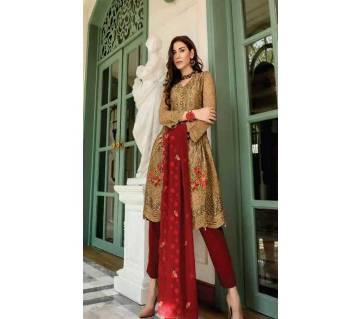 আনস্টিচড থ্রি পিস Deepsy Gulbano Georgette Pakistani Style Vol-7 Premium Suits 400-806 Multi with Light Umber-NON1581-5U7O 4806 1A00