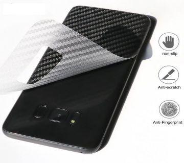 3D ক্লিয়ার কার্বন ফাইবার ব্যাক সাইড ডিউরেবল প্রোটেকটর ফিল্ম  For Samsung Galaxy J6 Plus