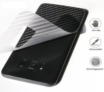 Samsung Galaxy A7 (2018) 3D ক্লিয়ার কার্বন ফাইবার ব্যাক সাইড ডিউরেবল প্রোটেকটর ফিল্ম