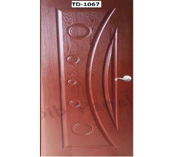 Stylish design solid Mehegoni wooden door