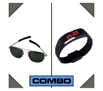 Ao Sunglasses & Led Watch Combo