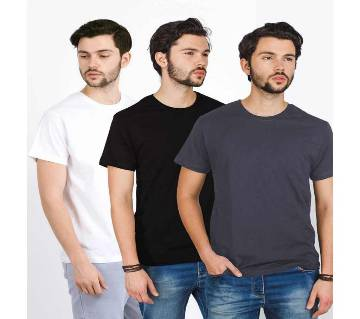 Mens Round Neck T-shirt Combo Pack